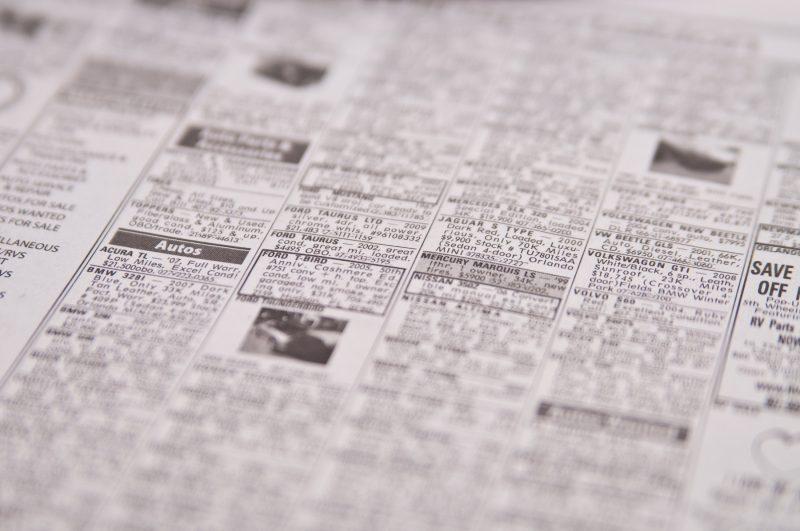 OnlineClassifieds.net Ads Header - newspaper